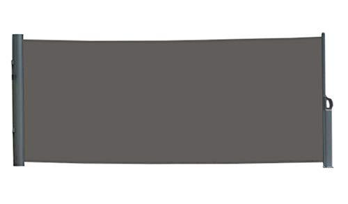 vanvilla Seitenmarkise Sichtschutz Sonnenschutz Windschutz Markise Seitenwand Anthrazit 100x300 cm