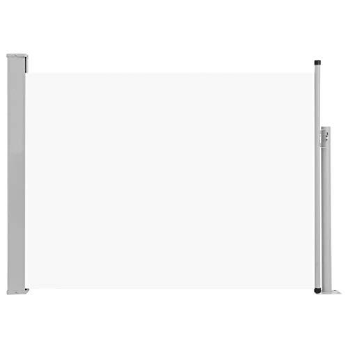 vidaXL Seitenmarkise Ausziehbar Sonnenschutz Sichtschutz Windschutz Seitenrollo Markise Seitenwandmarkise Balkon Garten Terrasse 120x500cm Creme
