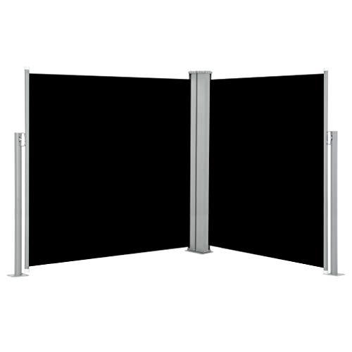 Tidyard Ausziehbare Doppelt Seitenmarkise aus UV- und reißfestem Polyester,Balkon-Sichtschutz Markise Sonnen-&Windschutz für Balkon Terrasse ausziehbare markise (170 x 600 cm),UV- wasserbeständig