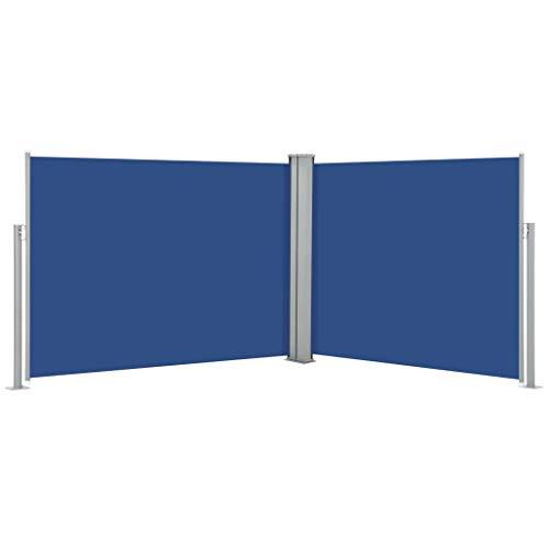 FAMIROSA Ausziehbare Seitenmarkise Blau 170 x 1000 cm