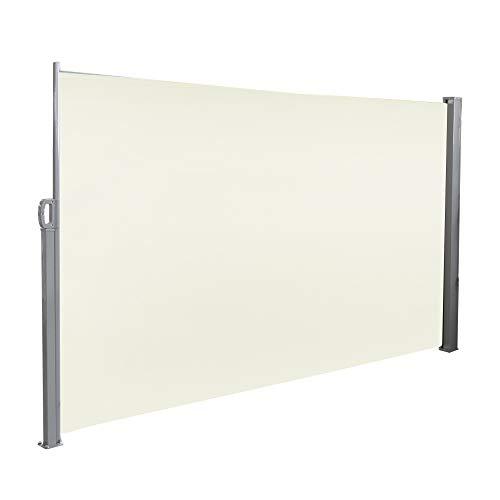 HENGMEI 160x300cm Seitenmarkise Sonnenschutz Sichtschutz Windschutz Verschiedene Größen für Terrasse Camping Garden (160 cm, Beige)