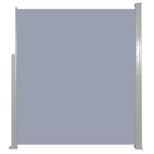 vidaXL Seitenmarkise 160x500cm Grau Sichtschutz Windschutz Sonnenschutz Balkon