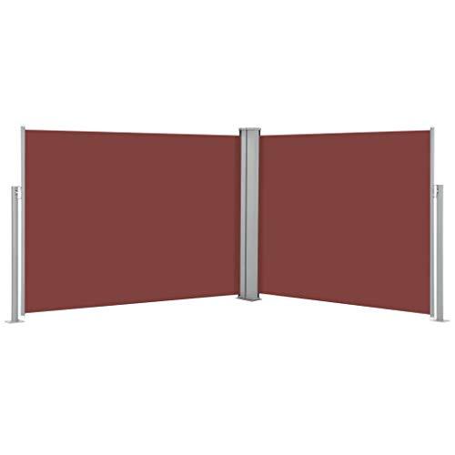 FAMIROSA Ausziehbare Seitenmarkise Braun 170 x 1000 cm