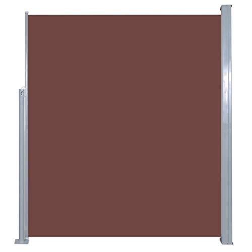 vidaXL Seitenmarkise 160x500cm Braun Sichtschutz Windschutz Sonnenschutz