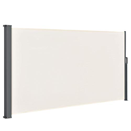 pro.tec /& Windschutz Seitenmarkise 180x300cm beige Sichtschutz Markise Sonnen