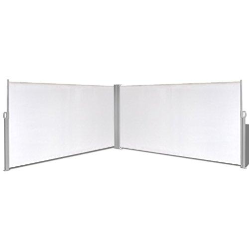 vidaXL Seitenmarkise Doppel 160x600cm Sichtschutz Seitenrollo Sonnenschutz