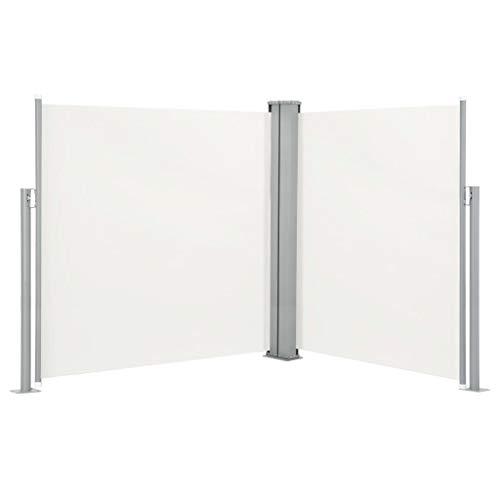 FAMIROSA Ausziehbare Seitenmarkise Creme 140 x 600 cm