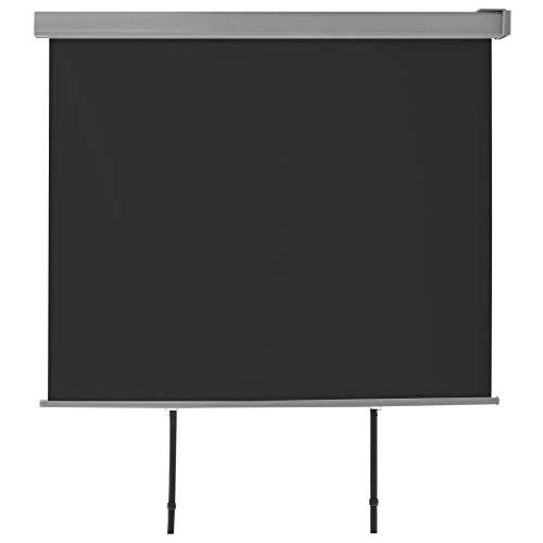yorten Seitenmarkise Sonnenschutz Sichtschutz Seitenwandmarkise Windschutz Wetterfest und UV-beständig 200 x 150 cm Schwarz