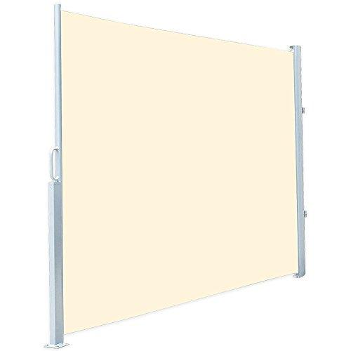 Royal Gardineer Markise: Seitenmarkise 120 x 200 cm, für Garten, Balkon und Terrasse, beige (Sichtschutz Garten)