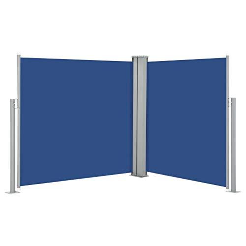 FAMIROSA Ausziehbare Seitenmarkise Blau 120 x 600 cm