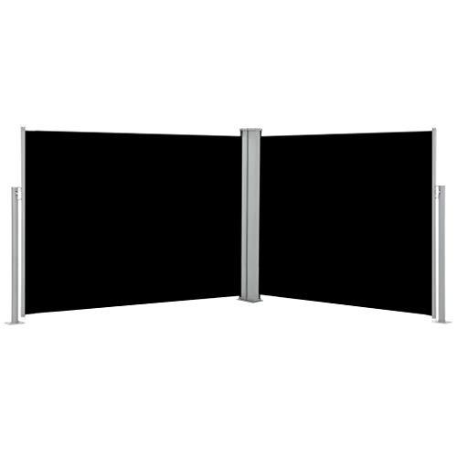 FAMIROSA Ausziehbare Seitenmarkise Schwarz 170 x 1000 cm