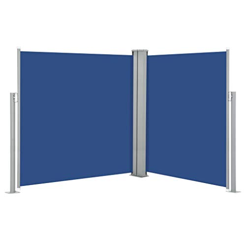 FAMIROSA Ausziehbare Seitenmarkise Blau 140 x 600 cm