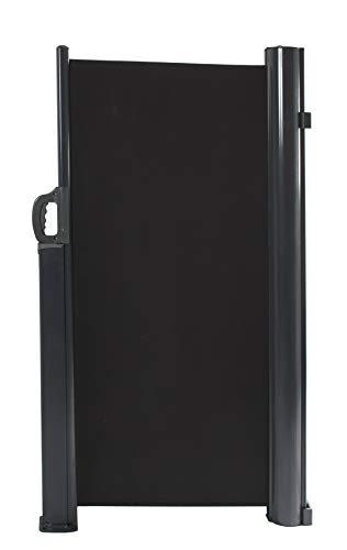 vanvilla Seitenmarkise Sichtschutz Sonnenschutz Windschutz Markise Seitenwand Anthrazit RAL7016 120x300 cm