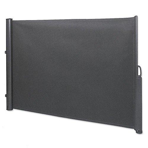 Jawoll Seitenmarkise 1,8 x 3,5 m anthrazit Sichtschutz Seitenwandmarkise Windschutz