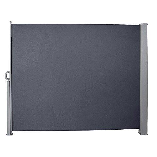 wolketon 160x300 cm Seitenmarkise, Anthrazit Markise mit TÜV Geprüft Markise Ausziehbar UV-beständig für Balkon,Terrasse,Balkon,Garten Spielplätzen Sichtschutz
