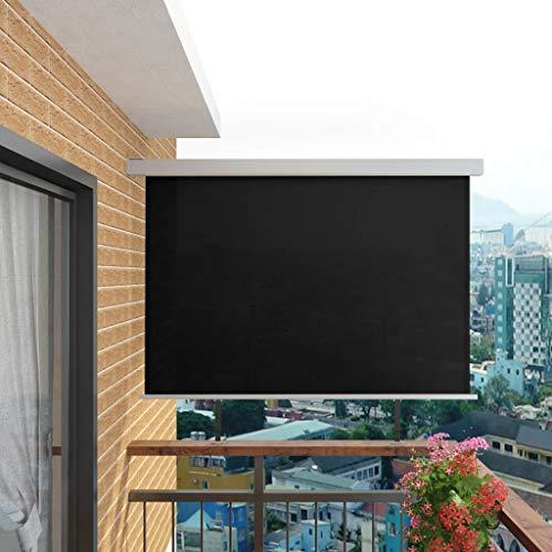 UBaymax Balkon-Seitenmarkise 180 x 200 cm, Multifunktional Balkon Sichtschutz Sonnenschutz, Terrasse Windschutz Wetterfest und UV-beständig, Senkrechtsonnensegel inkl. Montagezubehör