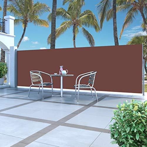 UBAYMAX Seitenmarkise Ausziehbar mit automatischen Rückrollfunktion 500 x 160 cm, Blickdicht TÜV geprüft Sichtschutz, Windschutz, Sonnenschutz, Seitenrollo für Balkon & Terrasse, inkl. Montagematerial