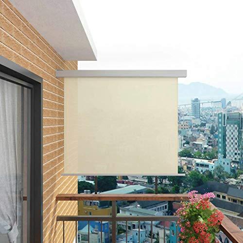 FAMIROSA Balkon-Seitenmarkise Multifunktional 150x200 cm Creme