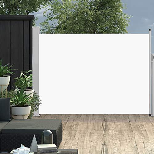 FAMIROSA Ausziehbare Seitenmarkise 120×500 cm Creme