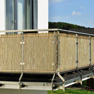 Schlifrohr-Sichtschutz Balkon