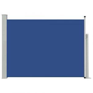 Seitenwandmarkise blau
